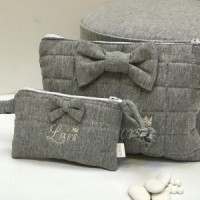 Portemonnee met strik Sweet Grey